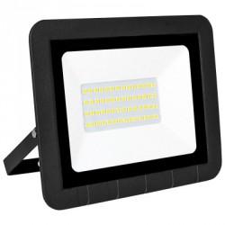 Projetor LED Plano Preto -30W fria