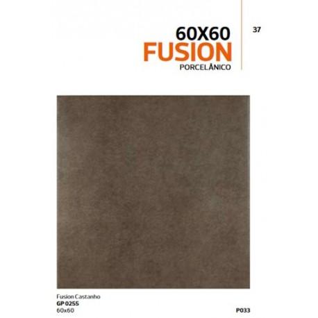 Pavimento CERÂMICO 60x60 cm FUSION CASTANHO