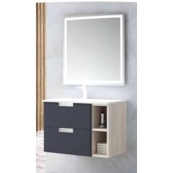 Móvel TOLEDO 100 CM + Lavatório + Espelho