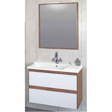Móvel CUENCA 80 CM + Lavatório + Espelho 80 CM